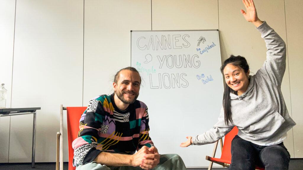 Cannes Young Lions, das deutsche PR-Team von Serviceplan: Trang Vu und Oliver Kindermann